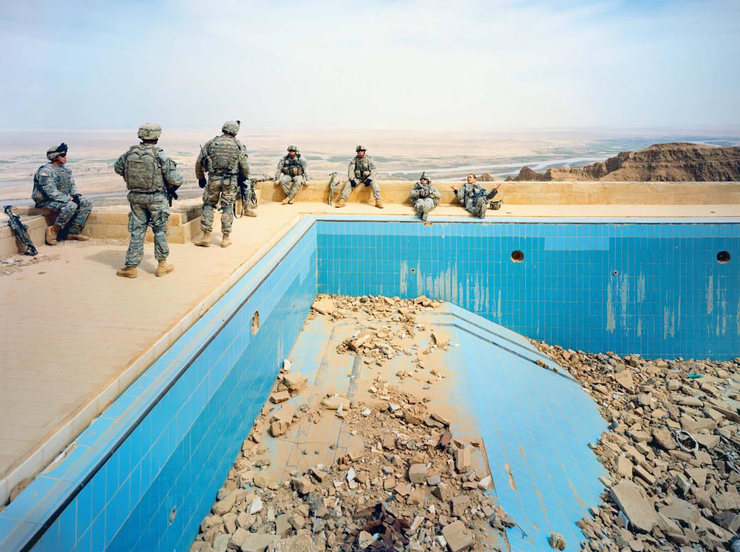 Richard Mosse-Pool-at-Udays-Palace-Salah-a-Din-Province-Iraq-serie-BREACH